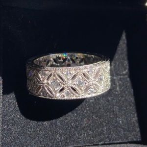 Intricate Pave CZ Band with Cutout Design (NWOT)